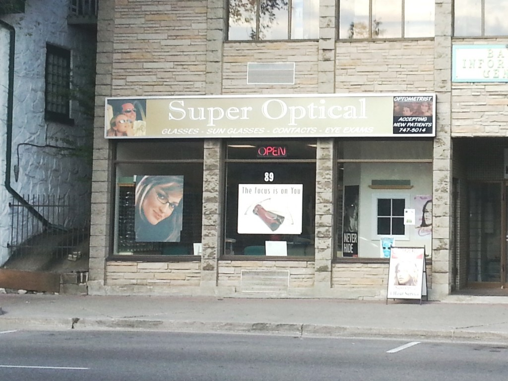 Super Optical Store in Uptown Waterloo